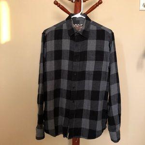 Blue Crown Black/Grey Plaid Box Flannel